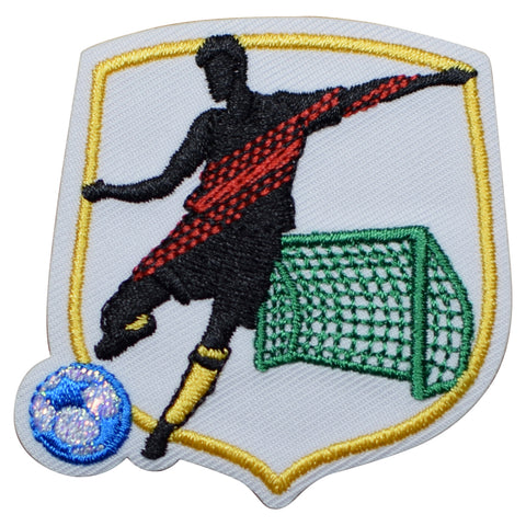 "Soccer Applique Patch - Sports, Futbol Badge 2"" (Iron on)"