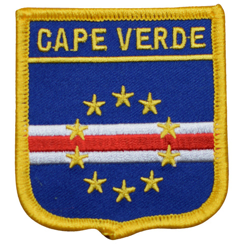 "Cape Verde Patch - Republic of Cabo Verde, Macronesia 2.75"" (Iron on)"