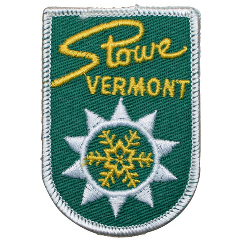 "Vintage Stowe Mountain Resort Patch - Vermont, Snow Ski Badge 3"" (Sew on)"