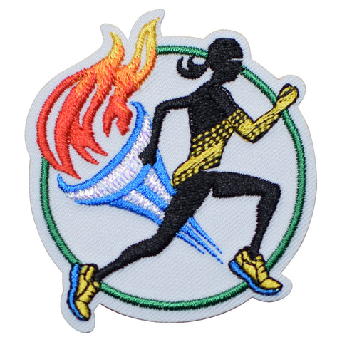 "Track and Field Applique Patch - Marathon, Running, Sprinting 2.25"" (Iron on)"