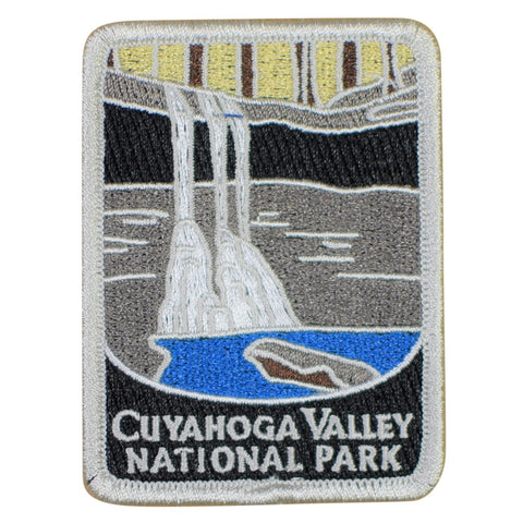 "Cuyahoga Valley National Park Patch - Blue Hen Falls, Ohio Badge 3"" (Iron on)"