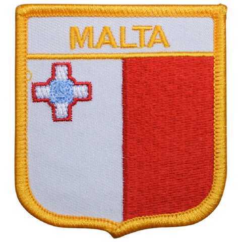 "Malta Patch - Mediterranean Sea, Southern Europe Badge 2.75"" (Iron on)"