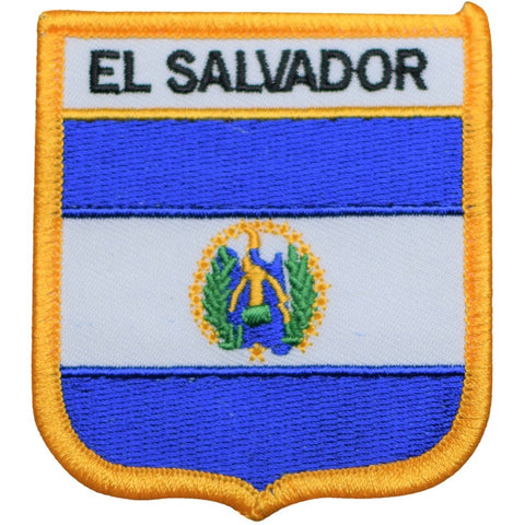 "El Salvador Patch - Central America, San Salvador Badge 2.75"" (Iron on)"