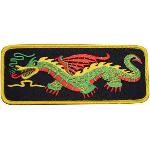 "Dragon Patch - Power, Strength, Good Luck Badge 5-5/16"" (Iron on)"