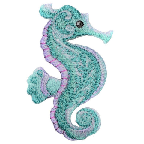 "Seahorse Applique Patch - Ocean Tropical Fish 2.75"" (Iron on)"