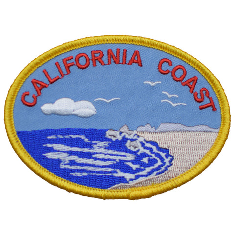 "California Patch - CA Coast, Beach, Surf, Sand 3.5"" (Iron on)"