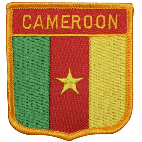 "Cameroon Patch - Africa, Bight of Biafra, Gulf of Guinea Badge 2.75"" (Iron on)"