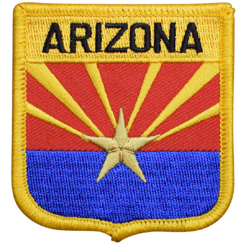 "Arizona Patch - AZ Badge, Copper Star 2.75"" (Iron on)"