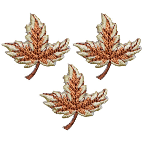"Leaf Applique Patch - Fall, Autumn Leaves 1-1/8"" (3-Pack, Iron on)"