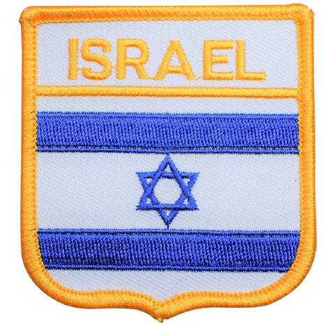 "Israel Patch - Mediterranean Sea, Red Sea, Tel Aviv, Jerusalem 2.75"" (Iron on)"