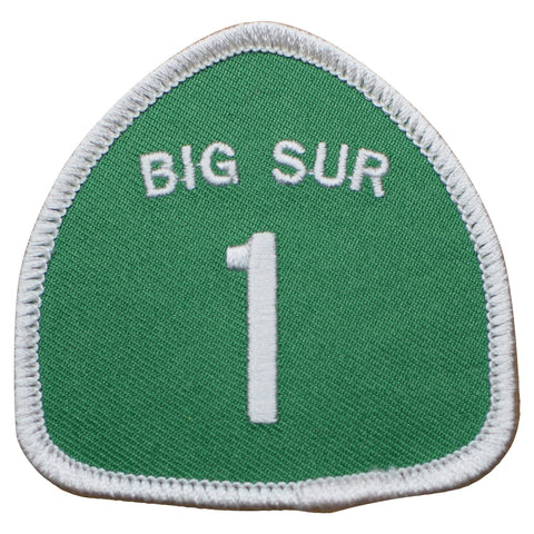 "Big Sur California Patch - Highway 1, Coast Hwy 2.5"" (Iron on)"