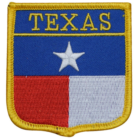 "Texas Patch - Houston, San Antonio, Dallas, Fort Worth, Austin 2.75"" (Iron on)"