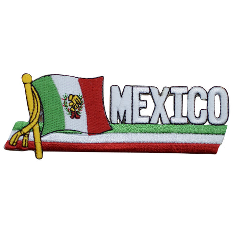 "Mexico Patch - Gulf of Mexico, Baja California, Caribbean 4-7/8"" (Iron on)"