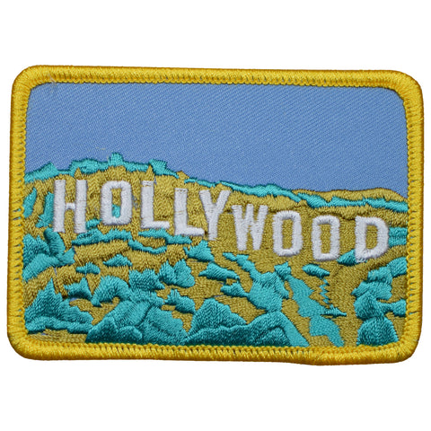 "Hollywood Patch - Hollywood Hills, California, Los Angeles 3.5"" (Iron on)"
