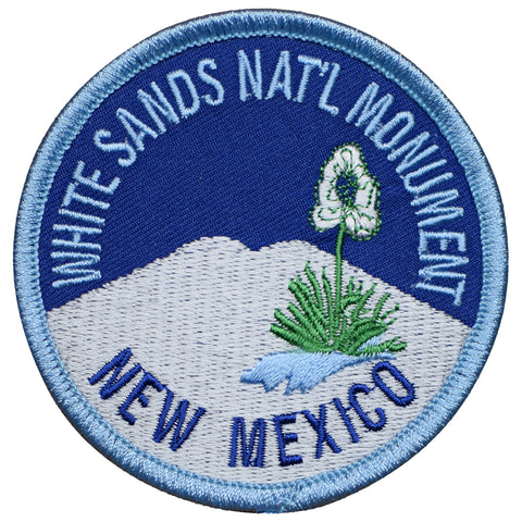 "White Sands National Monument Patch - New Mexico, NM Badge 3"" (Iron on)"