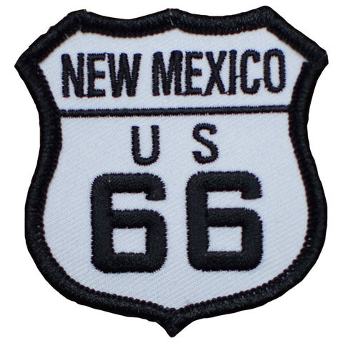"New Mexico Patch -  Route 66, Gallup, Laguna, Milan, Albuquerque 2.5"" (Iron on)"