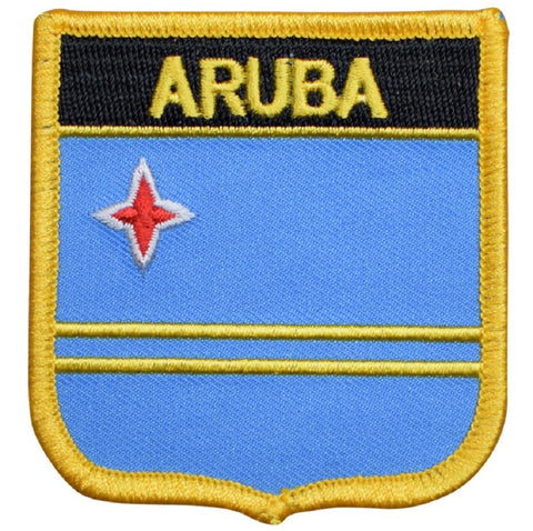 "Aruba Patch - Kingdom of the Netherlands, ABC Islands, Dutch Caribbean 2.75"" (Iron on)"