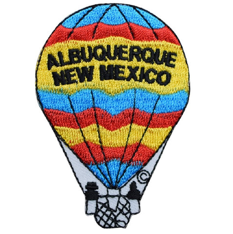 "Albuquerque New Mexico Applique Patch - NM Hot Air Balloon Badge 3"" (Iron on)"