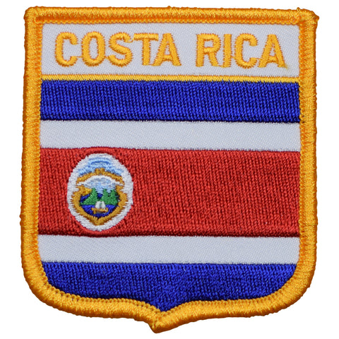 "Costa Rica Patch - República de Costa Rica, Central America, San José 2.75"" (Iron on)"