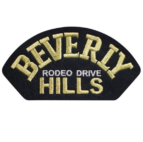 "Beverly Hills Patch - California Badge. Rodeo Drive 4.75"" (Iron on)"