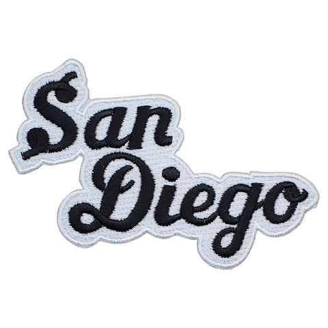 San Diego California Patch - Black and White (Iron On)