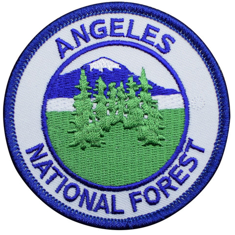 "Angeles National Forest Patch - Los Angeles, California, Hiking, Backpacking 3"" (Iron on)"