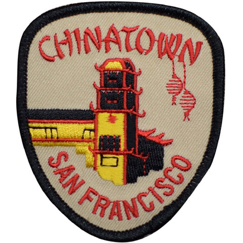 "San Francisco Patch - Chinatown, SF California Badge 3.25"" (Iron on)"