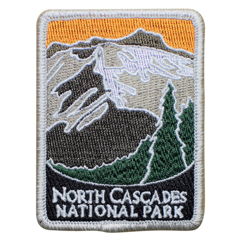 "North Cascades National Park Patch - Whatcom, Skagit, Washington 3"" (Iron on)"