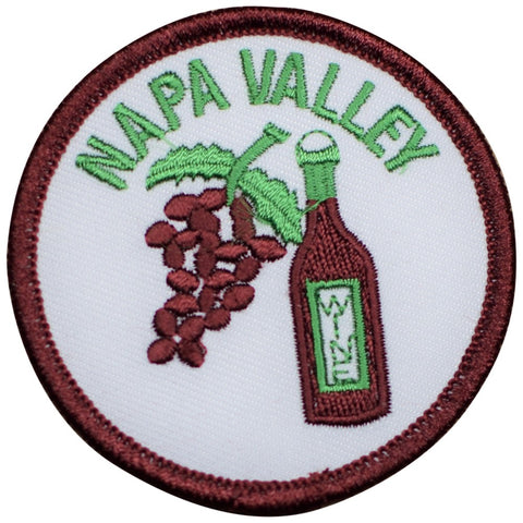 "Napa Patch - California, Wine Country, Vineyard, Winery Badge 2.5"" (Iron on)"