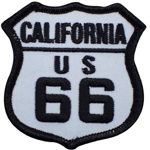 "California Patch - Los Angeles, Santa Monica, Route 66 Badge 2.5"" (Iron on)"