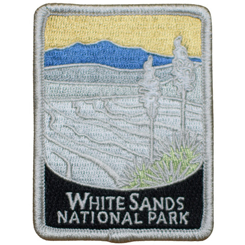 "White Sands National Park Patch - NM, New Mexico Badge 3"" (Iron on)"