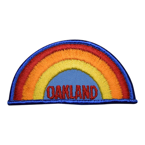 Vintage Oakland Rainbow Patch - California (Sew on)