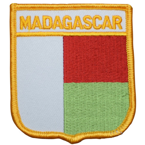 "Madagascar Patch - Indian Ocean, Biodiversity, Antananarivo 2.75"" (Iron on)"