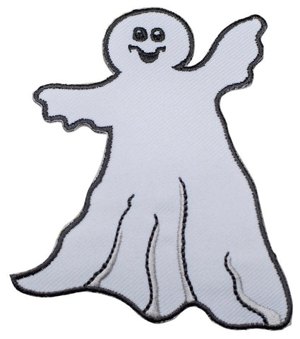 "Ghost Applique Patch - Halloween, Spirit, Scary, Spooky Badge 3.5"" (Clearance, Iron on)"