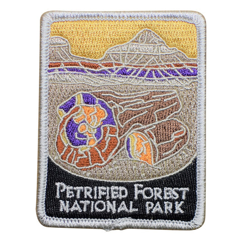 "Petrified Forest National Park Patch - Navajo, Apache, Arizona 3"" (Iron on)"