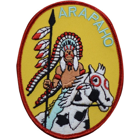 "Arapaho Tribe Patch - Horse, Native American, Indian 3-7/8"" (Iron on)"
