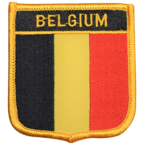 "Belgium Patch - Western Europe, Brussels, Antwerp, Ghent 2.75"" (Iron on)"