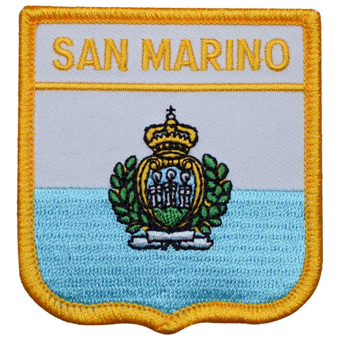 "San Marino Patch - Southern Europe, Apennine Mtns, Dogana, Italy 2.75"" (Iron on)"