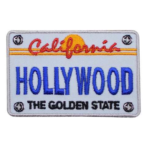 "Hollywood Patch - California License Plate, Los Angeles 2.75"" (Iron on)"