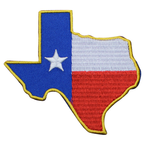 "Texas Patch - Houston, San Antonio, Dallas, Fort Worth, Austin 3-1/8"" (Iron on)"