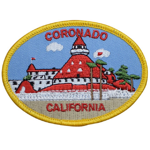 "Coronado Patch - Southern CA, San Diego, California Badge 3.5"" (Iron on)"