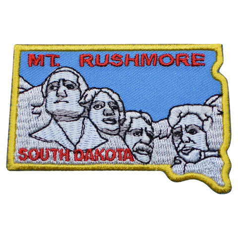 "Mount Rushmore Patch -  National Monument, South Dakota Badge 3"" (Iron on)"