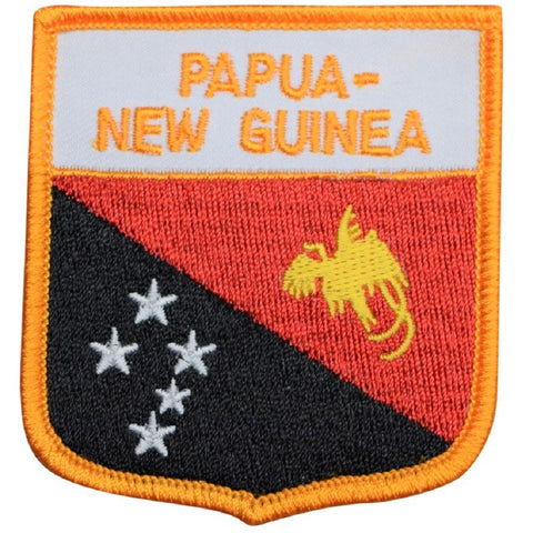 "Papua New Guinea Patch - Oceania, Melanesia, Port Moresby 2.75"" (Iron on)"