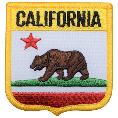 "California Patch - CA Shield, Grizzly Bear 2.75"" (Iron on)"