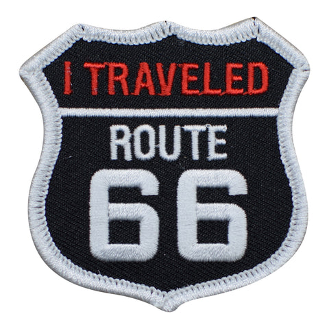 "Route 66 Patch - I Traveled Rt. 66 Badge 2.5"" (Iron on)"