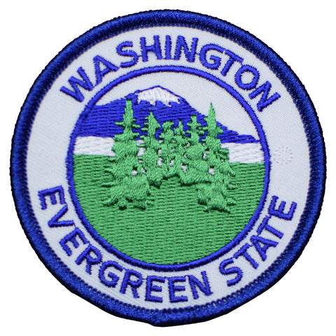 Washington Evergreen State Patch (Iron On)