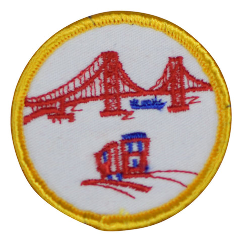 "Vintage San Francisco Patch - California, Golden Gate 2.25"" (Clearance, Sew on)"