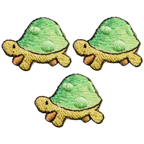 "Turtle Applique Patch - Ocean, Sea Creature 1"" (3-Pack, Iron on)"