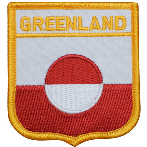"Greenland Patch - Arctic Ocean, Atlantic, Kingdom of Denmark 2.75"" (Iron on)"