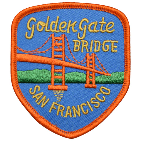 "San Francisco Patch - CA Golden Gate Bridge, California Badge 3-1/8"" (Iron on)"